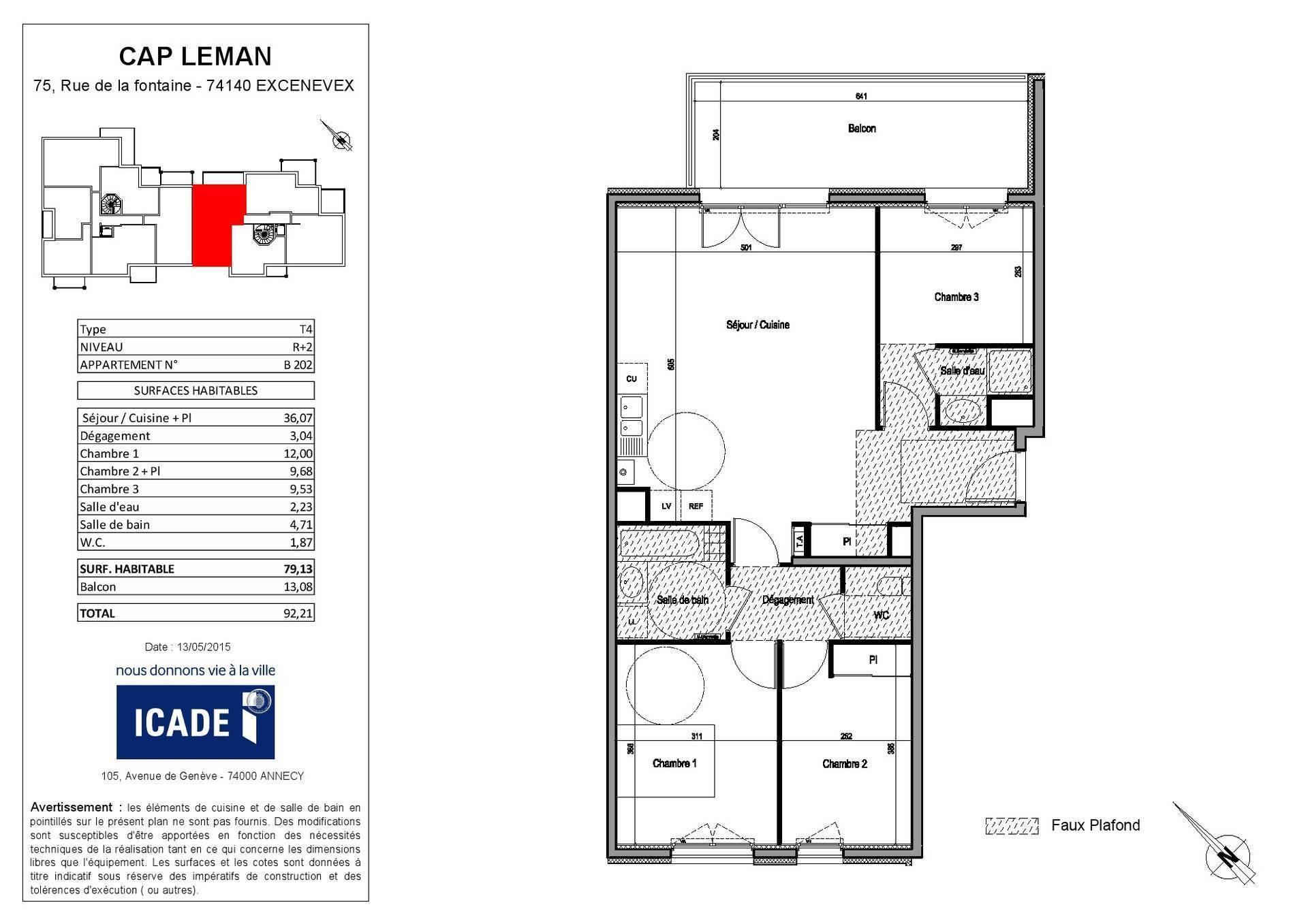 plan d'appartement f4