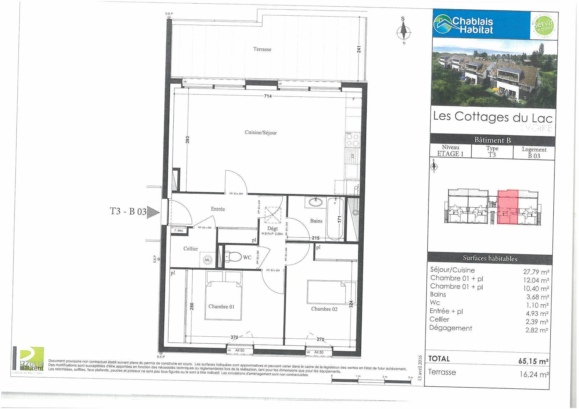 plan appartement 93 m2