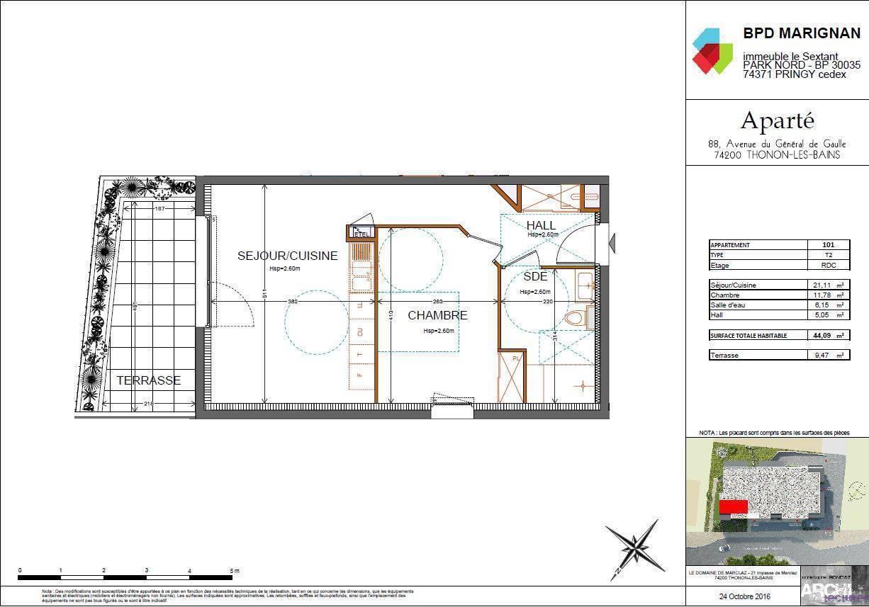 plan appartement t2